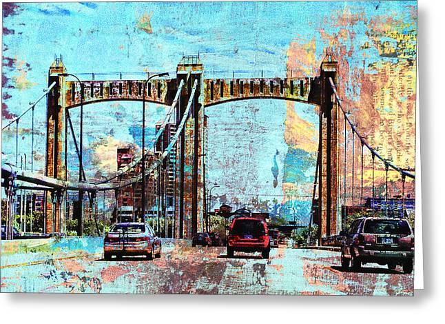 Minnesota Art Greeting Cards - Bridge to Minneapolis Greeting Card by Susan Stone