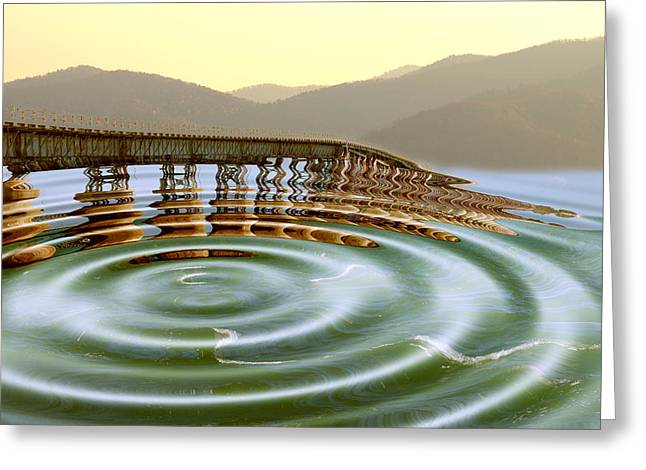 My Ocean Greeting Cards - Bridge To Nowhere Greeting Card by Kevin Cable