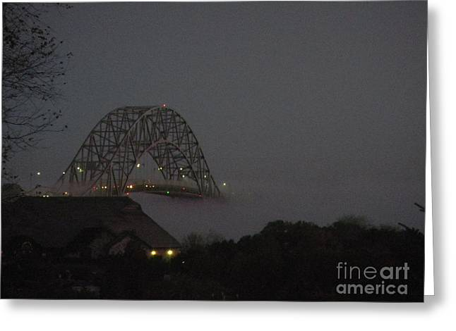 Bridge Tapestries - Textiles Greeting Cards - Bridge to Nowhere Greeting Card by Lisa  Marie Germaine