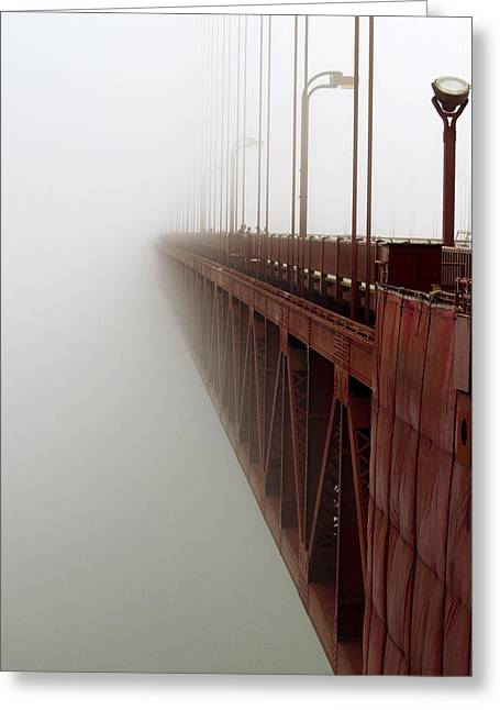 Bay Bridge Greeting Cards - Bridge to Obscurity Greeting Card by Bill Gallagher