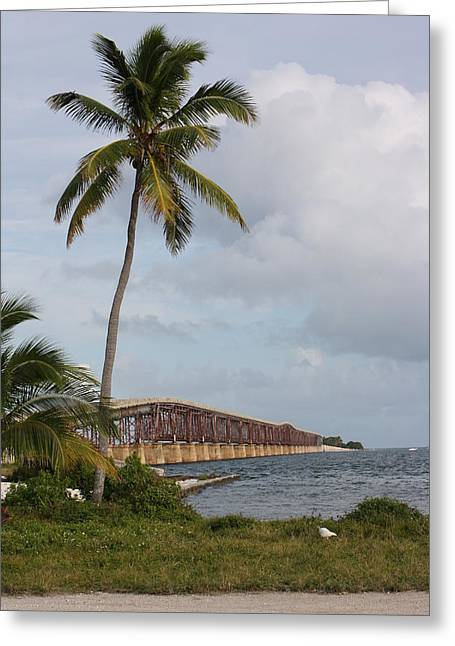 Paradise Road Greeting Cards - Bridge To Paradise Greeting Card by Chuck  Hicks