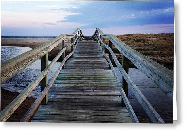 Chatham Greeting Cards - Bridge to Ridgevale Greeting Card by Amy Rounseville