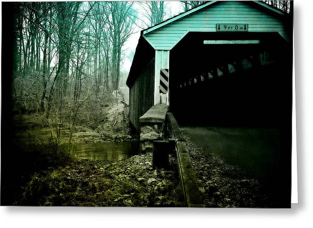 Surreal Landscape Greeting Cards - Bridge to Serenity Greeting Card by Susan Maxwell Schmidt