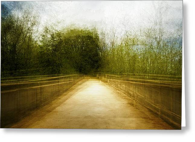 Bridge To The Invisible Greeting Card by Scott Norris