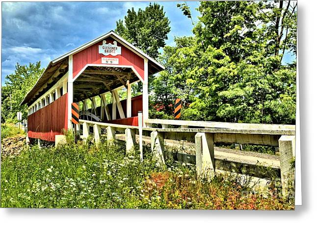 Covered Bridge Greeting Cards - Bridge To Yesterday Greeting Card by Adam Jewell