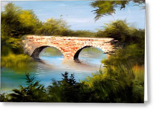 Bridge Under El Dorado Lake Greeting Card by Robert Carver