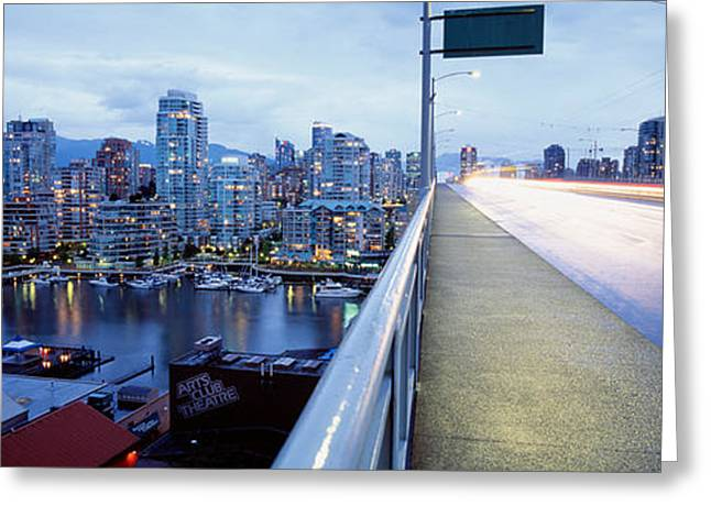 Convergence Greeting Cards - Bridge, Vancouver, British Columbia Greeting Card by Panoramic Images