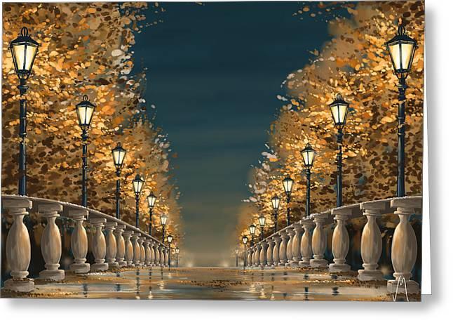 Bridge Greeting Card by Veronica Minozzi