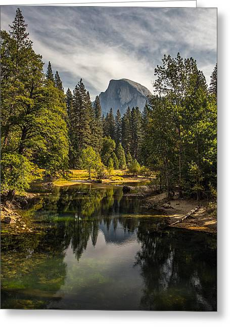 Dome Greeting Cards - Bridge View Half Dome Greeting Card by Peter Tellone