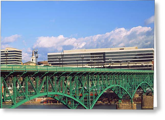 Bridge With Buildings Greeting Card by Panoramic Images