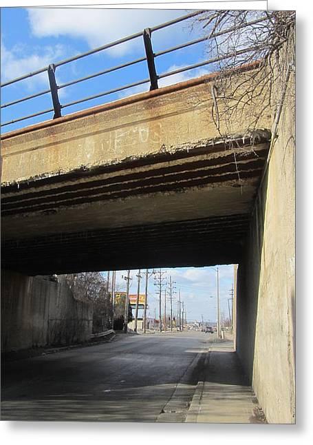 Concrete Bridge Greeting Cards - Bridge with Jesus 1 Greeting Card by Anita Burgermeister