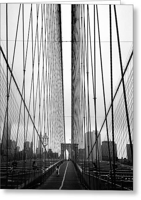 Lower East Side Greeting Cards - Bridge Work Greeting Card by Joann Vitali