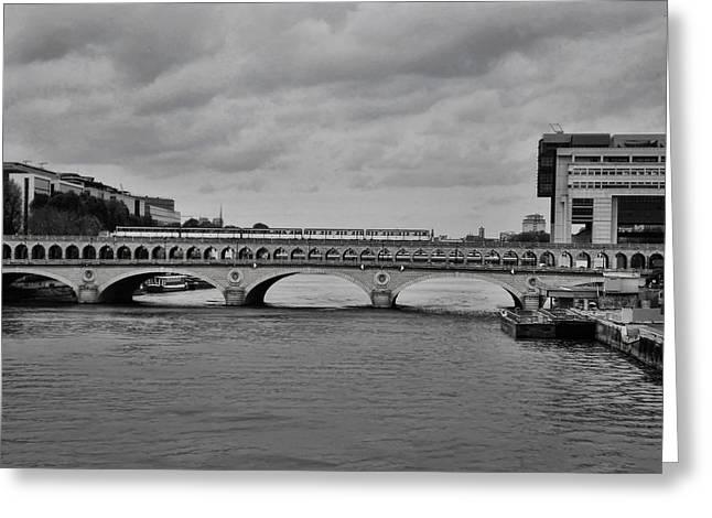 Greeting Cards - Bridges in Paris Greeting Card by Paris  France