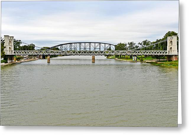 Scenic Drive Greeting Cards - Bridges in Waco TX Greeting Card by Christine Till