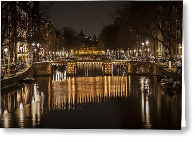 Shari Mattox Greeting Cards - Bridges of Amsterdam Greeting Card by Shari Mattox