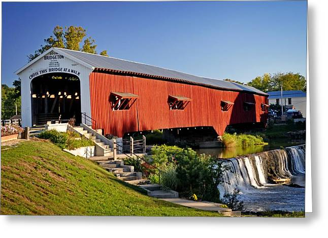 Bridgeton Covered Bridge Greeting Cards - Bridgeton Covered Bridge 3 Greeting Card by Marty Koch