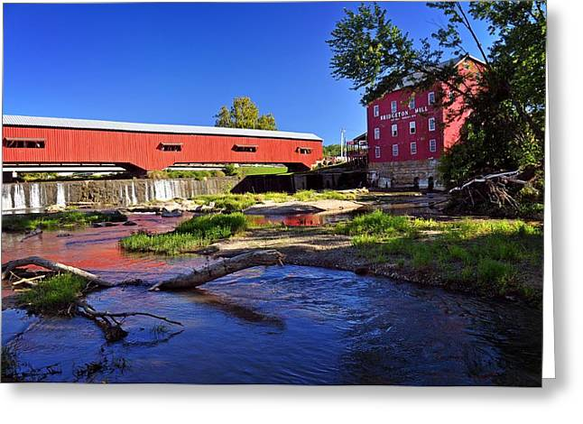 Bridgeton Covered Bridge Greeting Cards - Bridgeton Covered Bridge 4 Greeting Card by Marty Koch