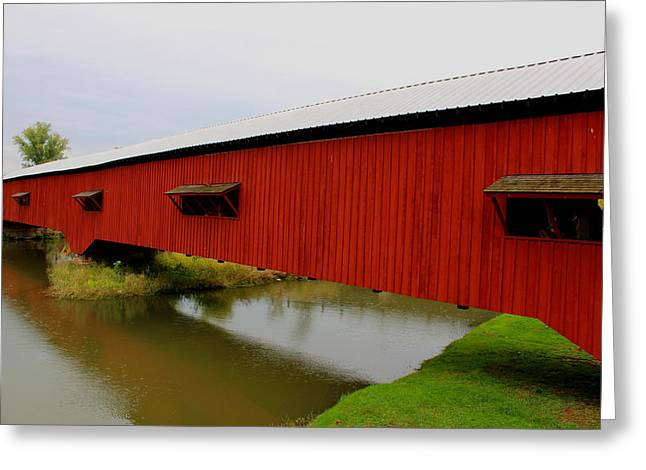 Bridgeton Covered Bridge Greeting Cards - Bridgeton Covered Bridge Greeting Card by Earl  Eells a