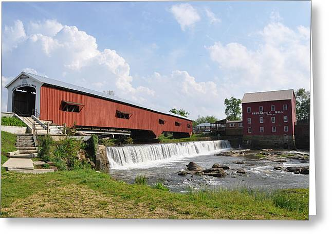 Bridgeton Covered Bridge Greeting Cards - Bridgeton Covered Bridge Greeting Card by Pamela Schreckengost