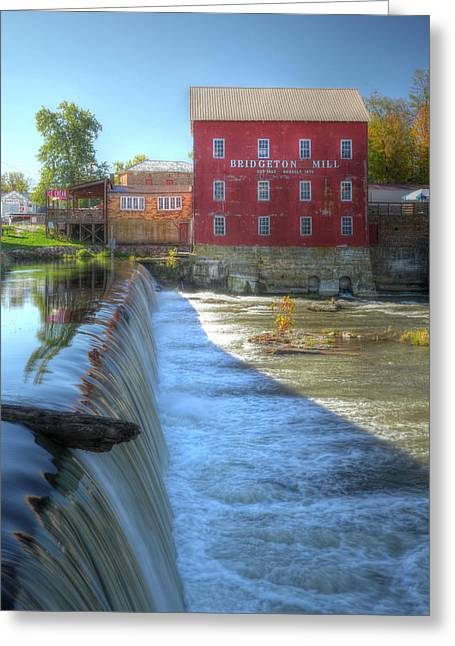 Bridgeton Mill Greeting Cards - Bridgeton Grist Mill Greeting Card by Harold Rau