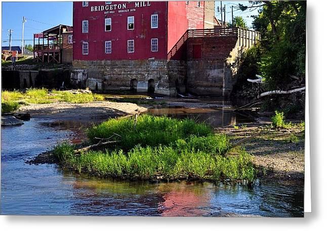Bridgeton Mill 2 Greeting Card by Marty Koch