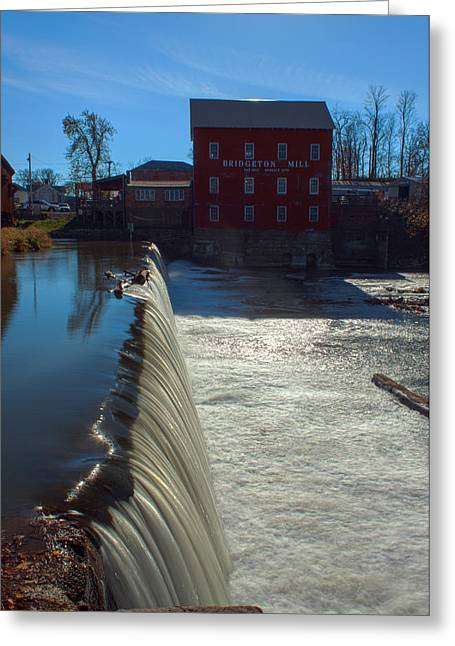 Bridgeton Mill Greeting Cards - Bridgeton Mill Greeting Card by Thomas Sellberg