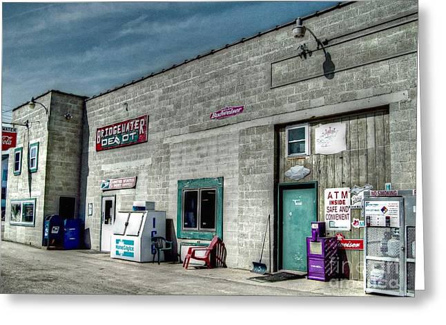 Bridgewater Depot Greeting Card by MJ Olsen