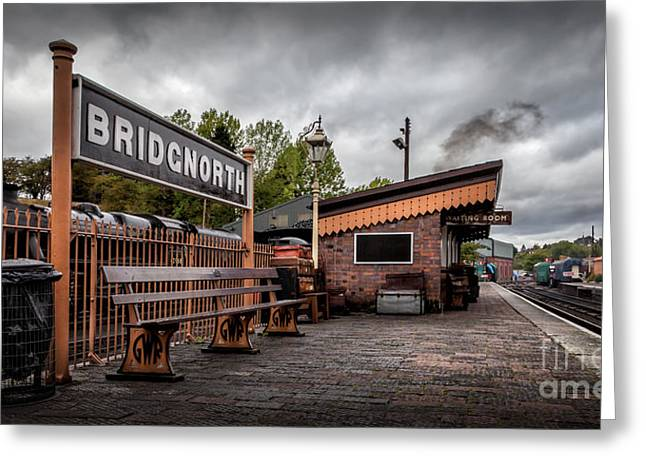 Trash Greeting Cards - Bridgnorth Railway Station Greeting Card by Adrian Evans