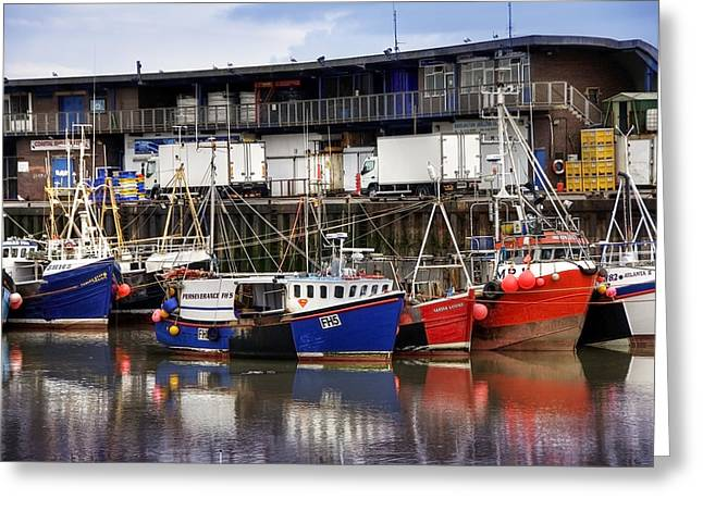 Bridlington Marina Greeting Card by Svetlana Sewell