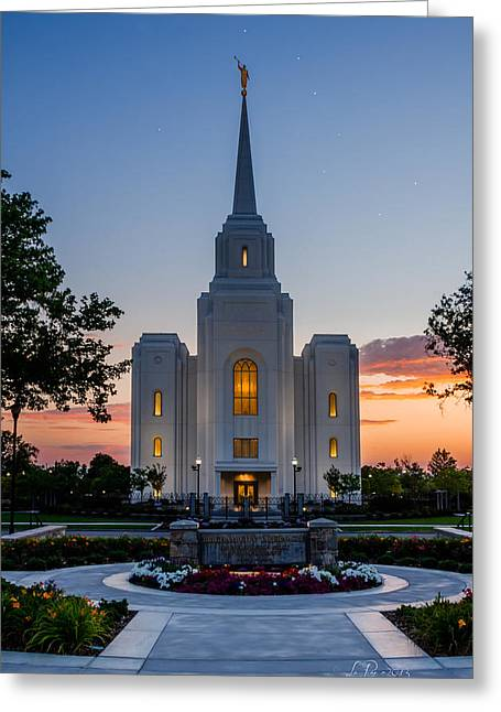 Mormon Temple Photography Greeting Cards - Brigham City Dipper Temple Greeting Card by La Rae  Roberts