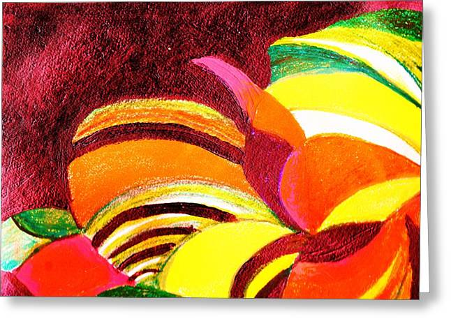 Bright Abstraction Greeting Card by Anne-Elizabeth Whiteway