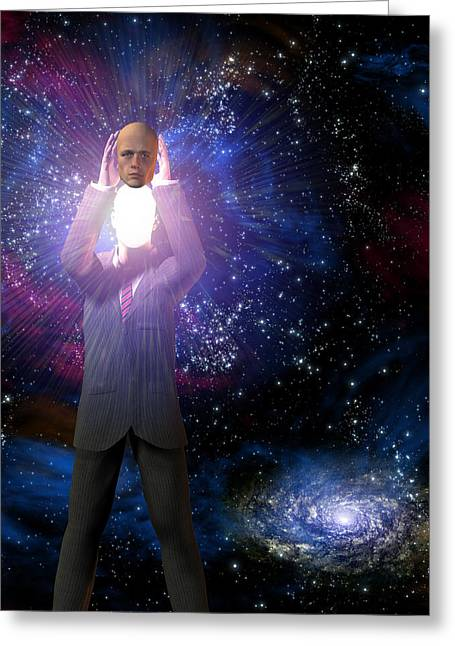 Human Intellect Greeting Cards - Bright Greeting Card by Bruce Rolff
