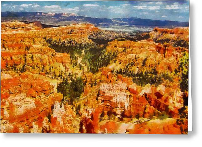 Cliffs Pastels Greeting Cards - Bright Bryce Canyon Greeting Card by Dan Sproul