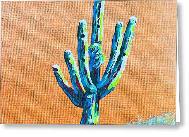 Bright Cactus Greeting Card by Greg Wells