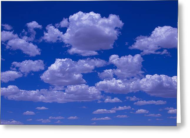 Billowing Greeting Cards - Bright Clouds Greeting Card by Garry Gay