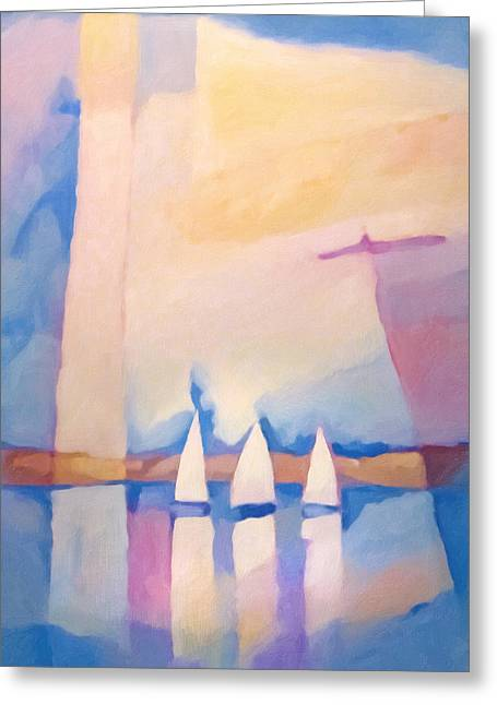 Bright Day At Sea Greeting Card by Lutz Baar