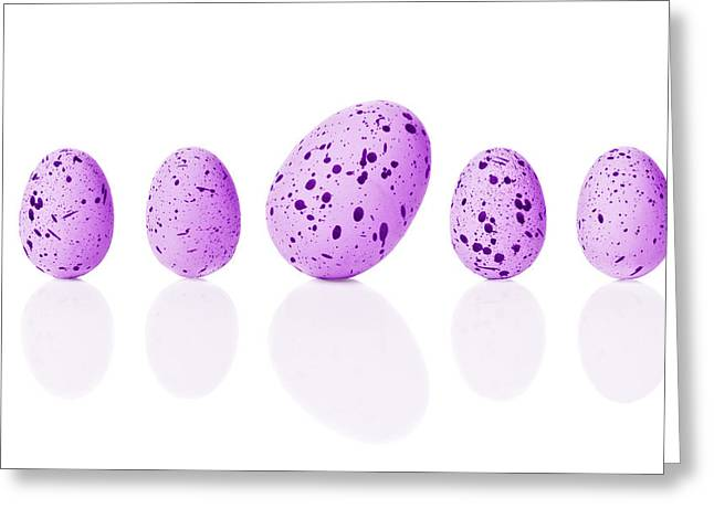 Lean Greeting Cards - Bright Easter Eggs Greeting Card by Amanda And Christopher Elwell