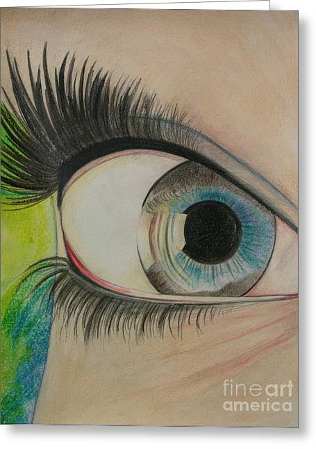 Bright Pastels Greeting Cards - Bright Eyed Greeting Card by Aimee Vance
