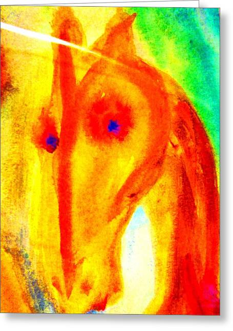 Free Will Greeting Cards - Bright eyes burning   Greeting Card by Hilde Widerberg