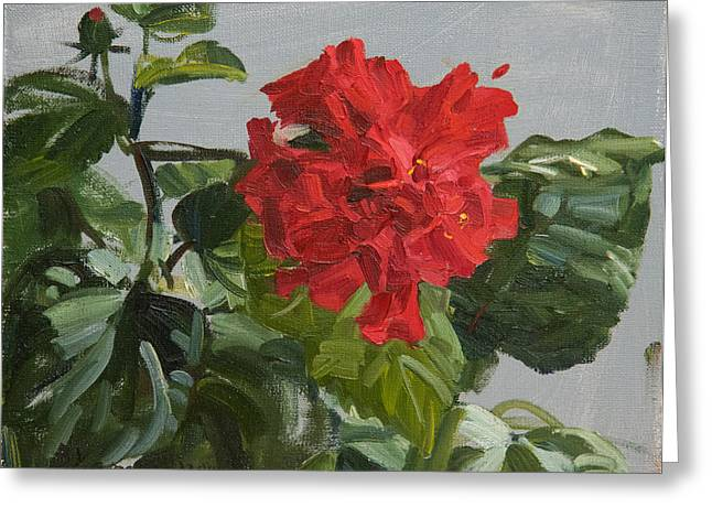 Flower Still Life Greeting Cards - Bright flower Greeting Card by Victoria Kharchenko