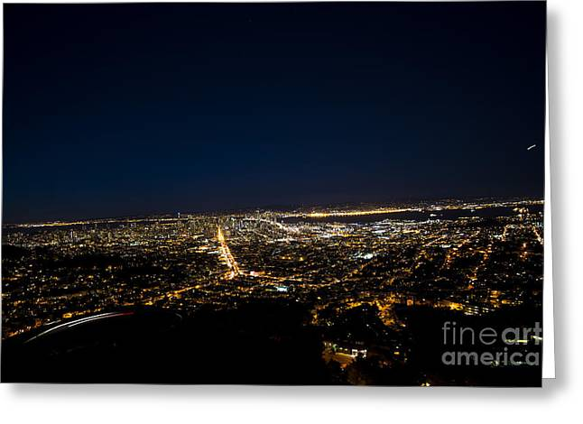 Twin Peaks Greeting Cards - Bright Lights Below Greeting Card by David Bearden