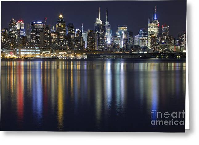 Ma Greeting Cards - Bright Lights Big City Greeting Card by Marco Crupi