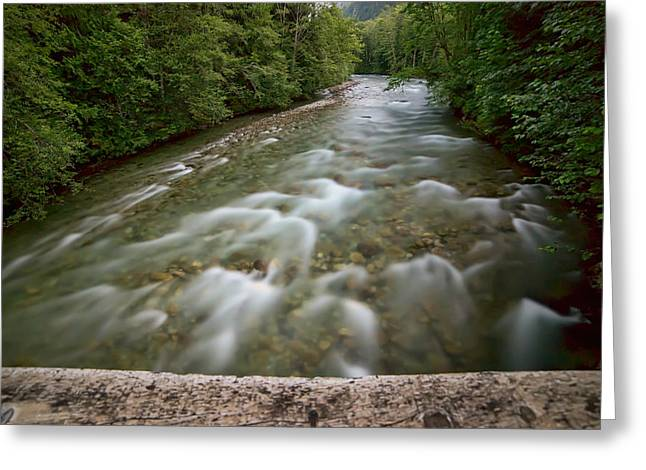 Beautiful Creek Greeting Cards - Bright Night River Greeting Card by James Wheeler