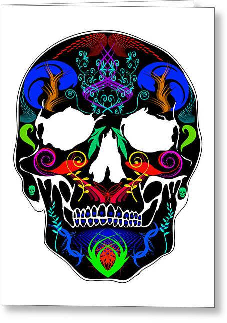 Scull Greeting Cards Greeting Cards - Bright Skull Greeting Card by Mauro Celotti