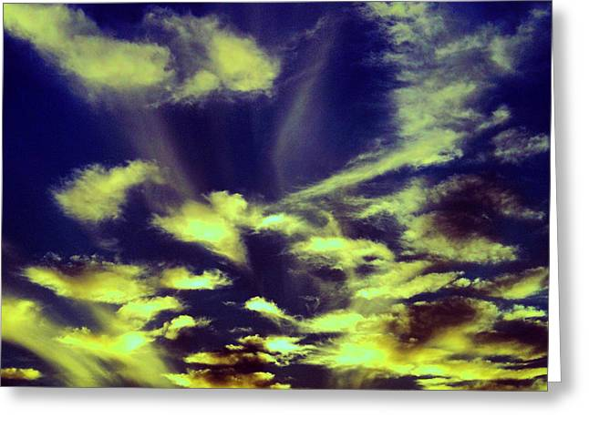 Sky Jewelry Greeting Cards - Bright Sky  Greeting Card by Jessica M G