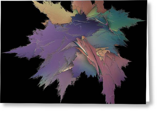 Bright Spray Of Leaves Bouquet Greeting Card by Gail Matthews