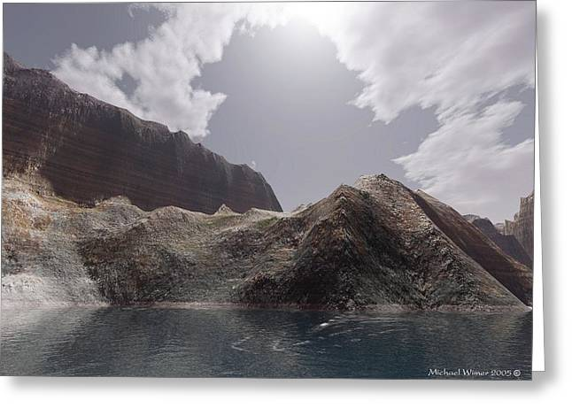 Terragen Digital Art Greeting Cards - Bright Summer Day Greeting Card by Michael Wimer
