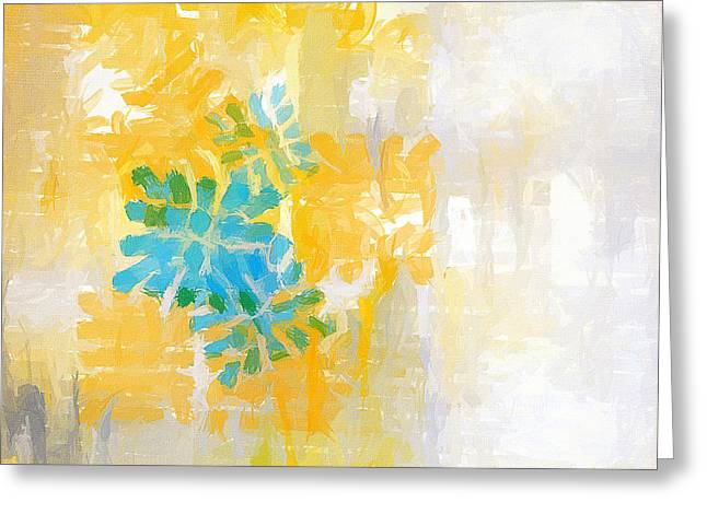 Blues And Yellows Greeting Cards - Bright Summer Greeting Card by Lourry Legarde