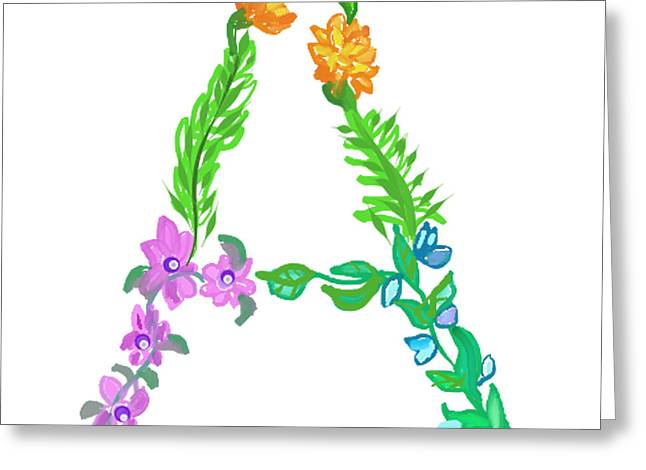 Housewarming Greeting Cards - Brighten up your day with the letter A  Greeting Card by Lea