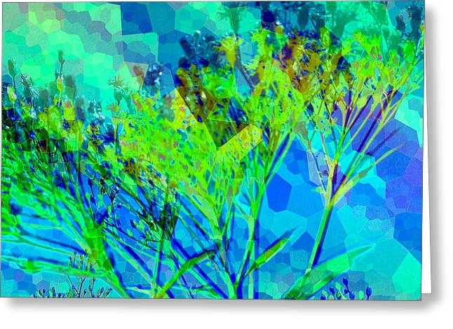 Glass Flowers And Leaves Greeting Cards - Brighter Day Greeting Card by Shawna  Rowe